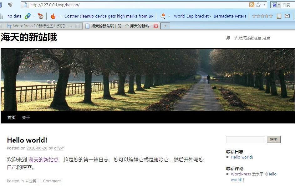 wordpress3.0新账户创建新站点