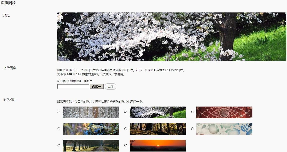 wordpress3.0自定义头部页眉图片