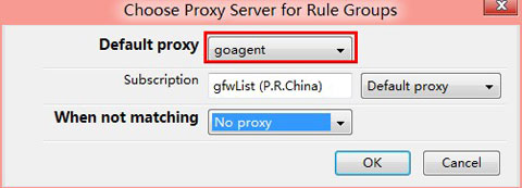 choose proxy server